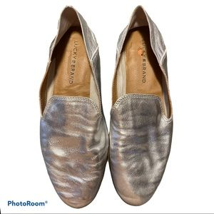 Lucky Brand CaHill leather platinum loafers sz 7.5